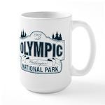 Olympic National Park Blue Sign Large Mug