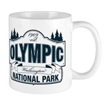 Olympic National Park Blue Sign Mug