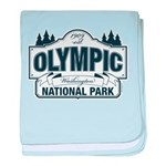 Olympic National Park Blue Sign baby blanket