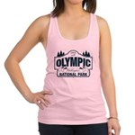 Olympic National Park Blue Sign Racerback Tank Top