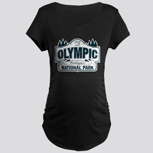 Olympic National Park Blue Sign Maternity Dark T-S