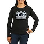 Olympic National Park Blue Sign Women's Long Sleev
