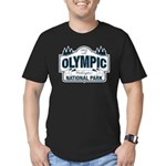Olympic National Park Blue Sign Men's Fitted T-Shi