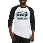Olympic National Park Blue Sign Baseball Jersey