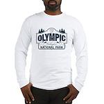 Olympic National Park Blue Sign Long Sleeve T-Shir