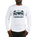 Olympic National Park Blue Sign Long Sleeve T-Shir