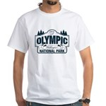 Olympic National Park Blue Sign White T-Shirt