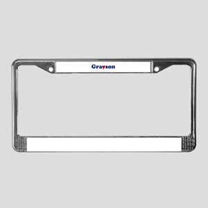 Grayson with Heart License Plate Frame