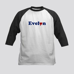 Evelyn with Heart Kids Baseball Jersey
