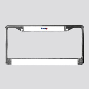 Betty with Heart License Plate Frame