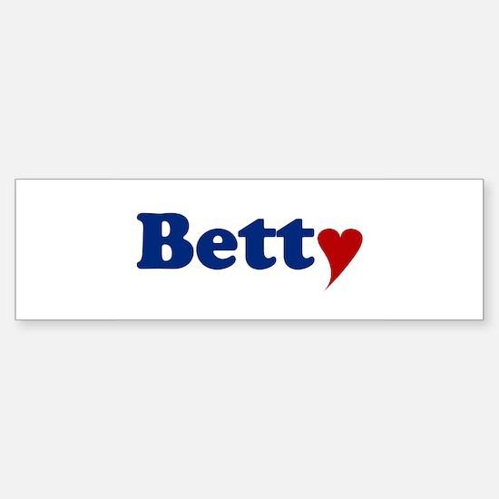 Betty with Heart Sticker (Bumper)