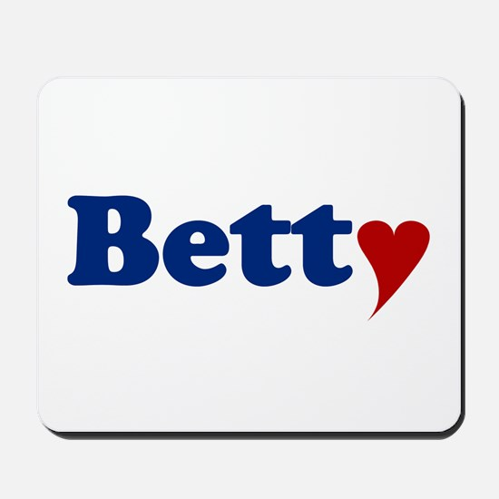 Betty with Heart Mousepad