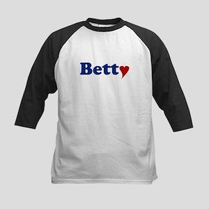 Betty with Heart Kids Baseball Jersey