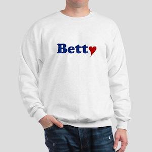 Betty with Heart Sweatshirt