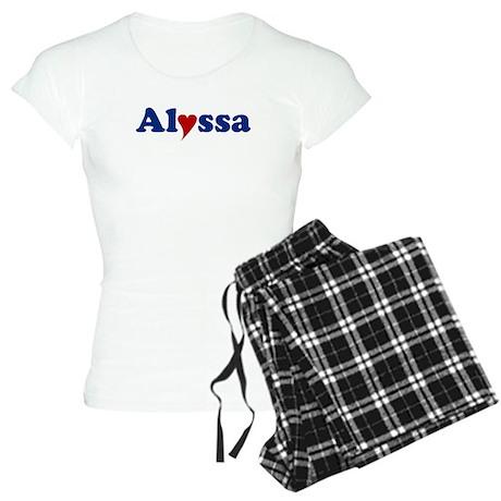 Alyssa with Heart Women's Light Pajamas