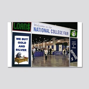 COLLEGE ADMISSION 20x12 Wall Decal