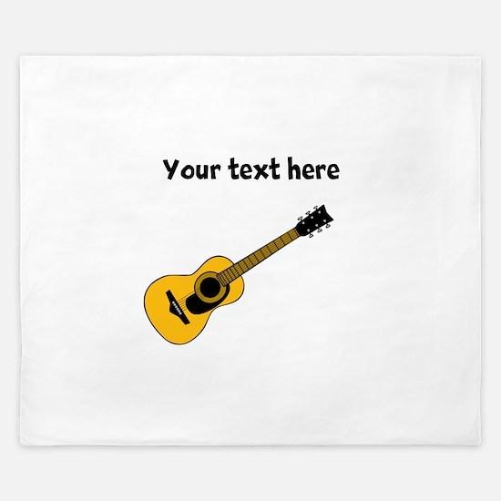 Customizable Guitar King Duvet