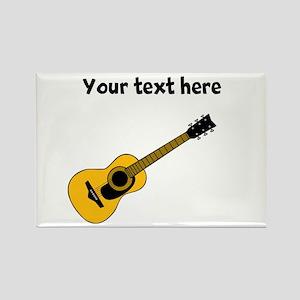 Customizable Guitar Rectangle Magnet