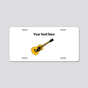 Customizable Guitar Aluminum License Plate