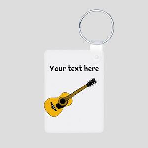 Customizable Guitar Aluminum Photo Keychain