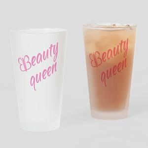 Beauty queen Drinking Glass