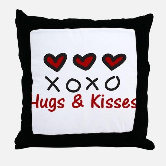 Hugs & Kisses Throw Pillow