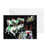 Bulldog christmas Greeting Cards (20 Pack)