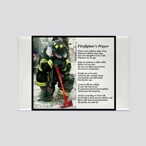 Old Version Firefighter Prayer Rectangle Magnet