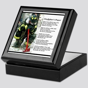 Old Version Firefighter Prayer Keepsake Box