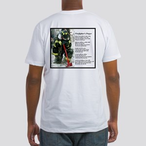 Old Version Firefighter Prayer Fitted T-Shirt
