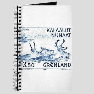 1981 Greenland Wild Reindeer Postage Stamp Journal