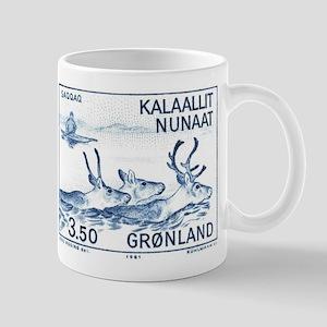 1981 Greenland Wild Reindeer Postage Stamp Mug