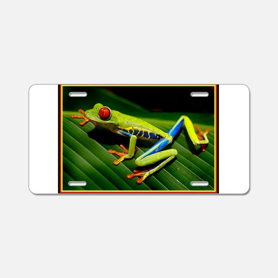 Exotic Tree Frog Aluminum License Plate