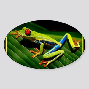 Exotic Tree Frog Sticker (Oval)