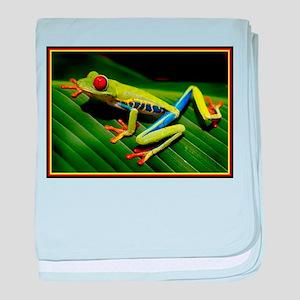 Exotic Tree Frog baby blanket