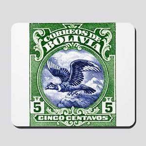 Bolivia 1928 Andean Condor Postage Stamp Mousepad