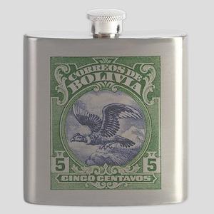 Bolivia 1928 Andean Condor Postage Stamp Flask
