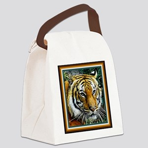 Eye of the Tiger. Canvas Lunch Bag