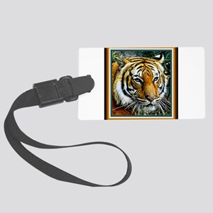 Eye of the Tiger. Large Luggage Tag