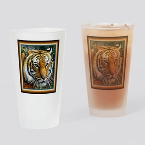 Eye of the Tiger. Drinking Glass