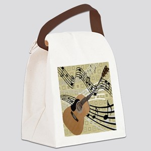 Abstract Guitar Canvas Lunch Bag