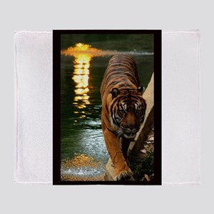 Tiger at Sunset. Throw Blanket