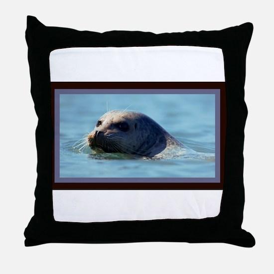 Seal. Throw Pillow