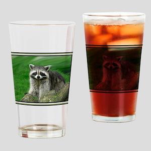 Raccoon Drinking Glass
