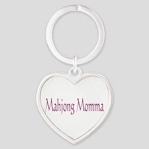 Mahjong Momma Heart Keychain