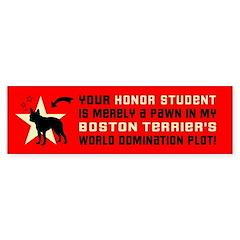 Boston Terrier World Domination Plot Bumper Sticker