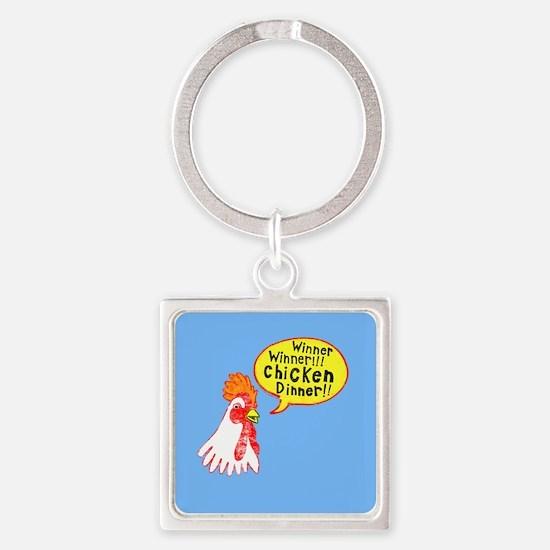 Winner Chicken Dinner Square Keychain