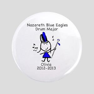 "Drum Major - Olivia 3.5"" Button"
