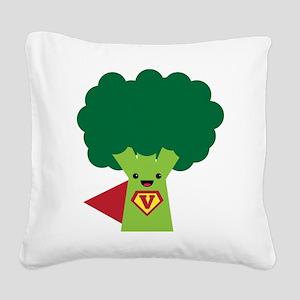 Super Brocoli Square Canvas Pillow