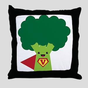 Super Brocoli Throw Pillow